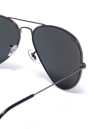 Detail View - Click To Enlarge - RAY-BAN - Metal frame aviator sunglasses