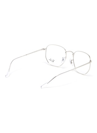 Figure View - Click To Enlarge - RAY-BAN - Angled metal frame aviator optical glasses