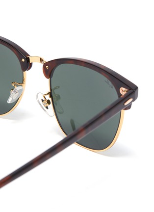 Detail View - Click To Enlarge - RAY-BAN - Clubmaster' tortoiseshell effect acetate frame sunglasses