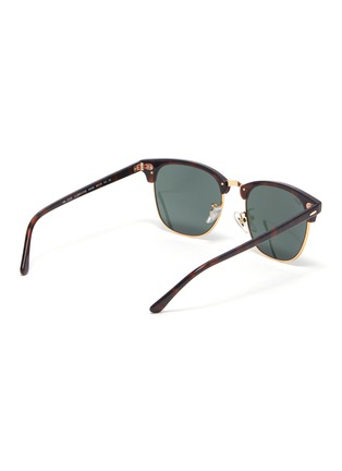 Figure View - Click To Enlarge - RAY-BAN - Clubmaster' tortoiseshell effect acetate frame sunglasses