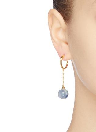 Detail View - Click To Enlarge - EJING ZHANG - 'Tadema' resin drop earrings