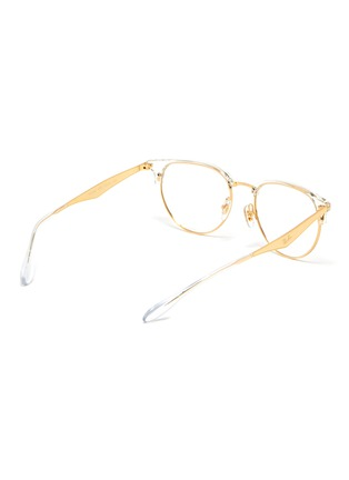 Figure View - Click To Enlarge - RAY-BAN - 'Clubmaster' metal half acetate frame transparent rim optical glasses