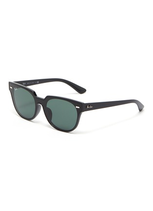 Main View - Click To Enlarge - RAY-BAN - 'Wayfarer' acetate frame thin temple sunglasses