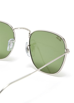 Detail View - Click To Enlarge - RAY-BAN - 'Frank' metal small square frame sunglasses