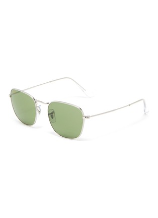 Main View - Click To Enlarge - RAY-BAN - 'Frank' metal small square frame sunglasses