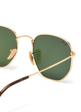 Detail View - Click To Enlarge - RAY-BAN - Metal angular frame sunglasses