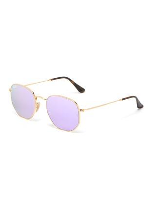 Main View - Click To Enlarge - RAY-BAN - Metal angular frame sunglasses