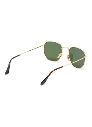 Figure View - Click To Enlarge - RAY-BAN - Metal angular frame sunglasses
