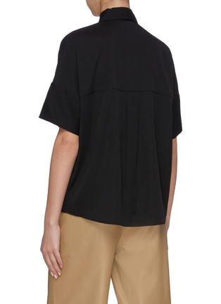 Back View - Click To Enlarge - VINCE - Short sleeve satin blouse