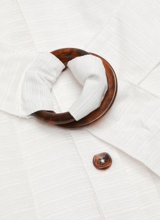 - C/MEO COLLECTIVE - 'Go On' contrast acetate buckle belt mid sleeve midi shirt dress