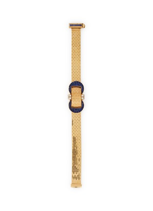 Main View - Click To Enlarge - PALAIS ROYAL - Van Cleef and Arpels 'Ludo' sapphire 18k gold mystery watch bracelet