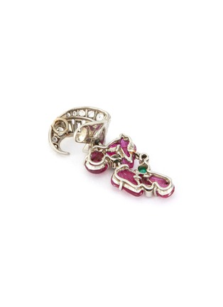 Detail View - Click To Enlarge - PALAIS ROYAL - Mauboussin diamond ruby emerald 18k white gold earrings, bracelet and ring parure