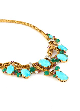 - PALAIS ROYAL - Mauboussin turquoise 18k gold earrings, bracelet, ring and necklace parure