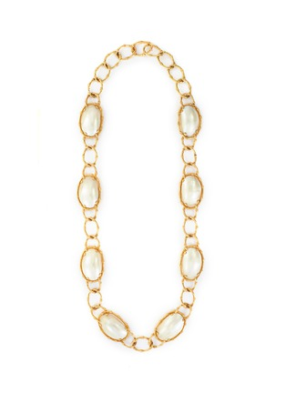 Main View - Click To Enlarge - PALAIS ROYAL - Van Cleef and Arpels pearl 18k gold necklace