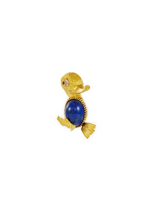 Main View - Click To Enlarge - PALAIS ROYAL - Cartier 'Duck' diamond ruby lapis gold brooch