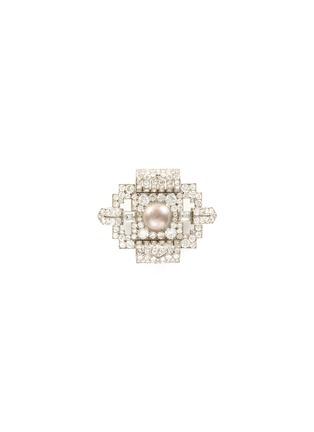 Main View - Click To Enlarge - PALAIS ROYAL - Diamond pearl platinum brooch