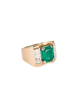 Main View - Click To Enlarge - PALAIS ROYAL - Mauboussin diamond emerald 18k gold ring