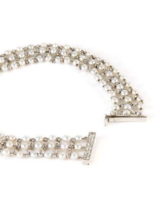 Detail View - Click To Enlarge - PALAIS ROYAL - Diamond pearl platinum bracelet
