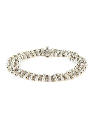 Main View - Click To Enlarge - PALAIS ROYAL - Diamond pearl platinum bracelet