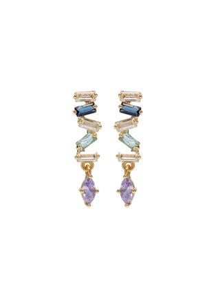 Main View - Click To Enlarge - GIRLS CREW - 'Lavender Baguette' cubic zirconia earrings