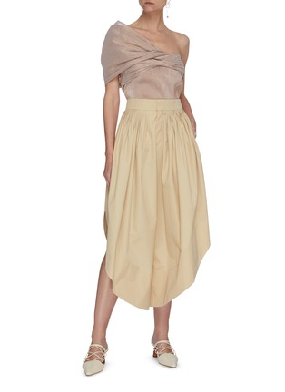 Figure View - Click To Enlarge - CHLOÉ - Side slit flou pants