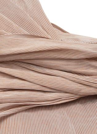 - CHLOÉ - Striped asymmetric drape top