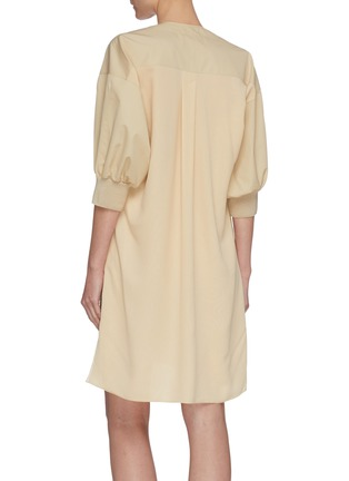 Back View - Click To Enlarge - CHLOÉ - Neck-tie detail button down trench coat