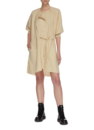 Figure View - Click To Enlarge - CHLOÉ - Neck-tie detail button down trench coat