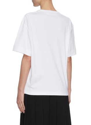 Back View - Click To Enlarge - CHLOÉ - 'By The Grace' slogan print oversized T-shirt
