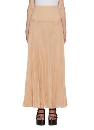 Main View - Click To Enlarge - CHLOÉ - Plissé pleated maxi skirt