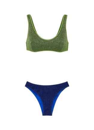 Main View - Click To Enlarge - OSEREE - Lumière Sporty' bi colour bikini set
