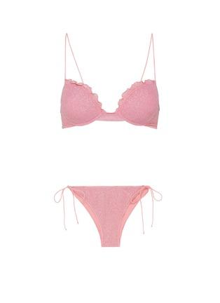 Main View - Click To Enlarge - OSEREE - Shine' push up scallop detail bikini set