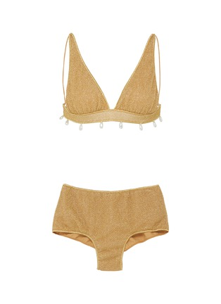 Main View - Click To Enlarge - OSEREE - Lumière' faux pearl embellished bikini set