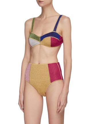 Figure View - Click To Enlarge - OSEREE - Lumière Colore' colourblock high waist bikini set