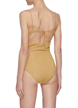 Back View - Click To Enlarge - OSEREE - Lumière' balconette bra top one piece swimsuit