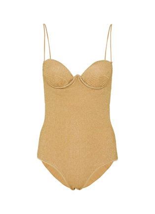 Main View - Click To Enlarge - OSEREE - Lumière' balconette bra top one piece swimsuit
