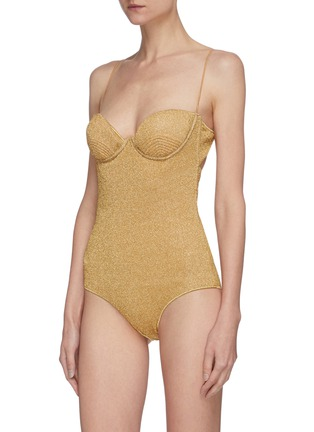 Figure View - Click To Enlarge - OSEREE - Lumière' balconette bra top one piece swimsuit