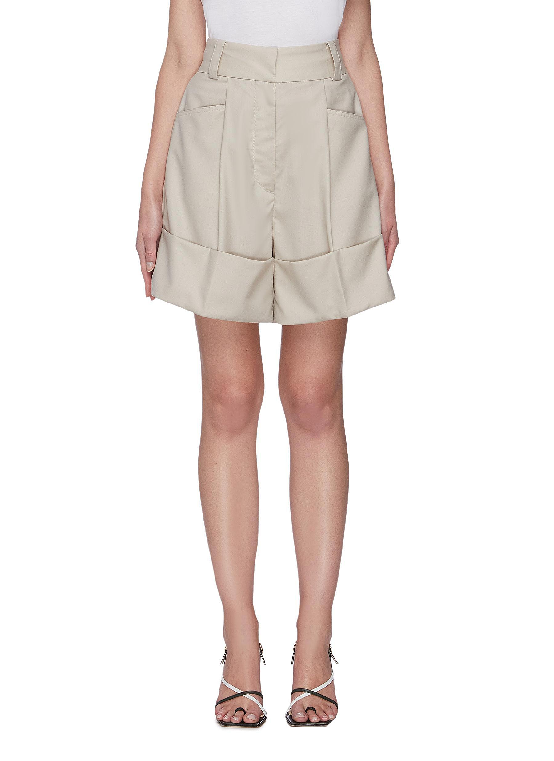 Buy Low Classic Pants & Shorts Half turn up relaxed shorts