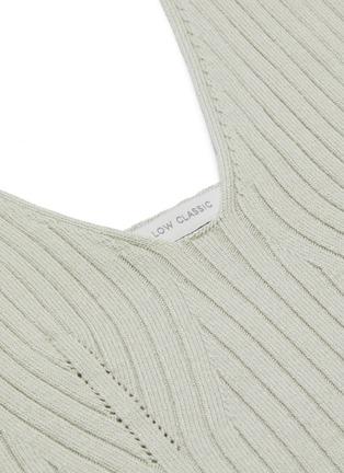 - LOW CLASSIC - Sleeveless rib knit crop top