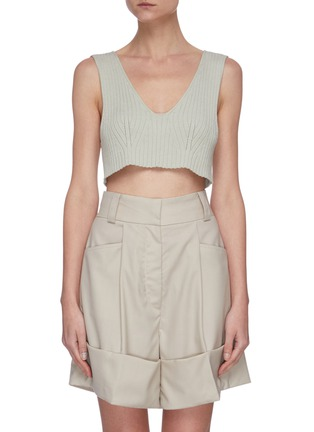Main View - Click To Enlarge - LOW CLASSIC - Sleeveless rib knit crop top