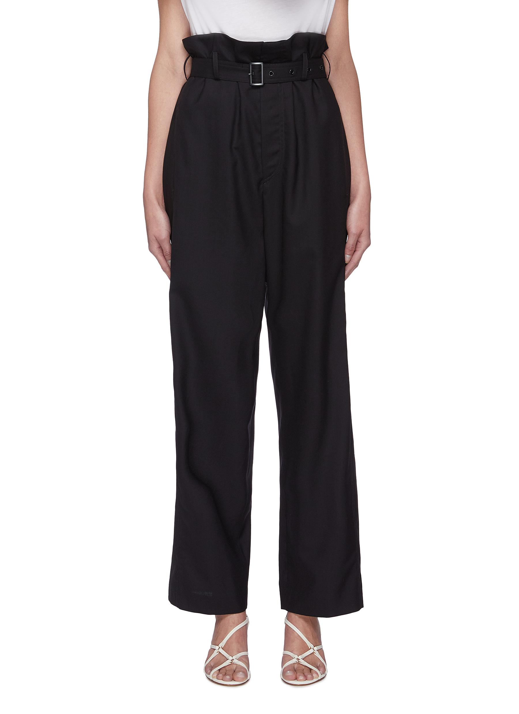 shop Low Classic Belted paper bag suiting pants online