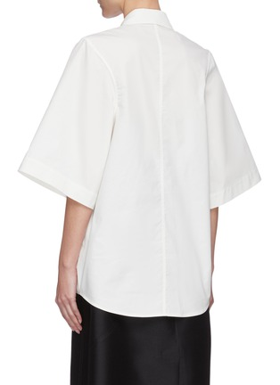 Back View - Click To Enlarge - LOW CLASSIC - Armhole stitch oxford shirt