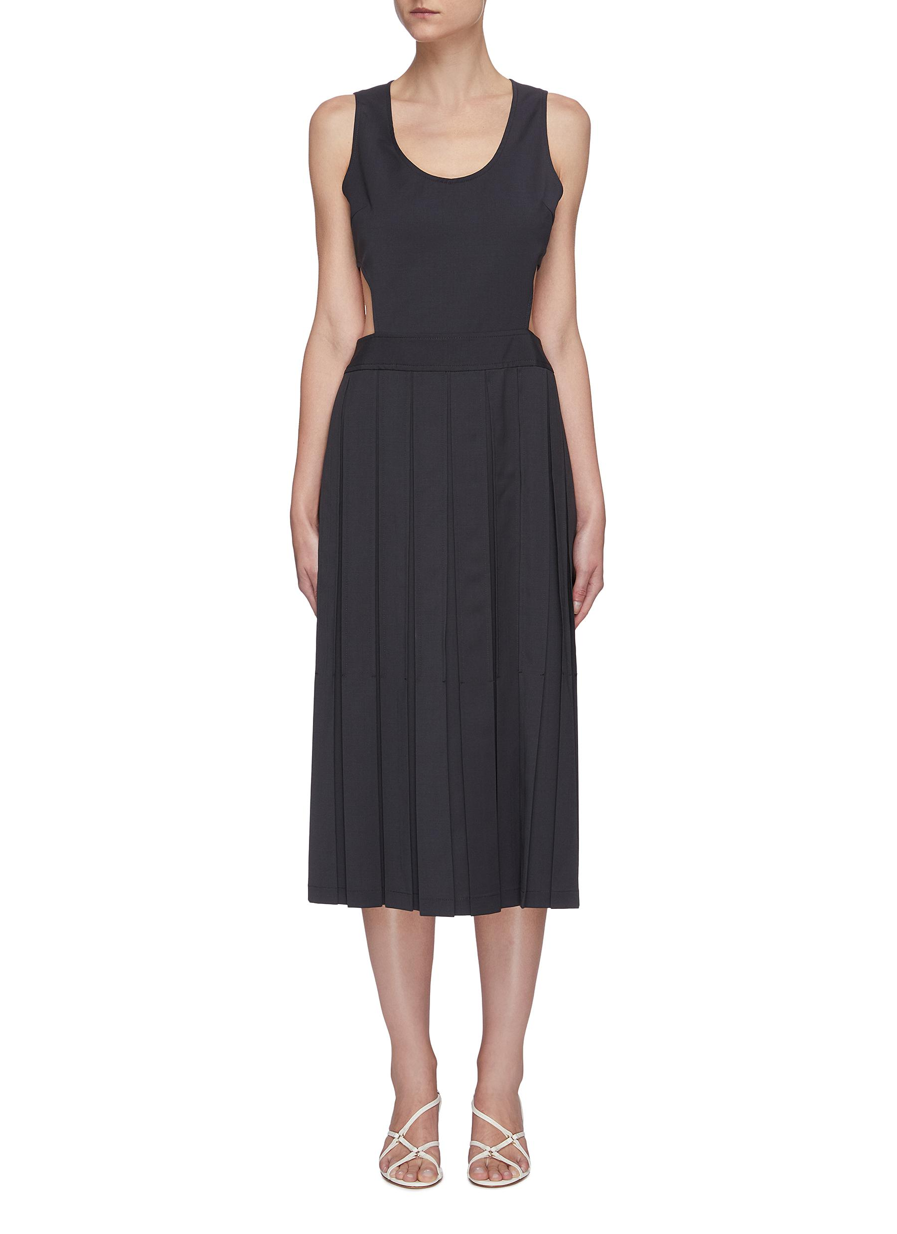Buy Low Classic Dresses Side cut-out pleated maxi dress