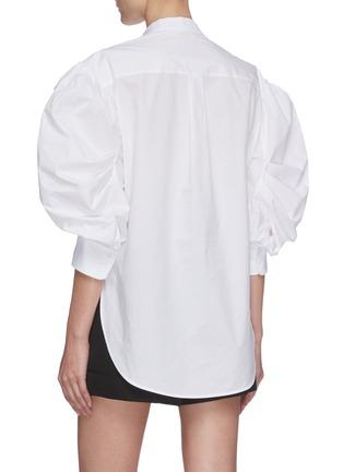 Back View - Click To Enlarge - ALEXANDER MCQUEEN - Dancing girls print balloon sleeve top