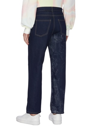 Back View - Click To Enlarge - FENG CHEN WANG - Chinese traditional print scene jeans