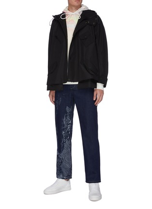 Figure View - Click To Enlarge - FENG CHEN WANG - Chinese traditional print scene jeans