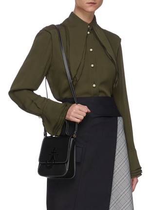 Front View - Click To Enlarge - JW ANDERSON - Anchor embroidered felt tote bag