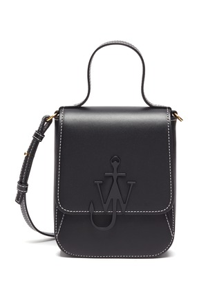 Main View - Click To Enlarge - JW ANDERSON - Anchor embroidered felt tote bag