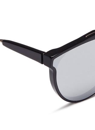 Detail View - Click To Enlarge - SUPER - 'Giaguaro' metal bridge mirror sunglasses