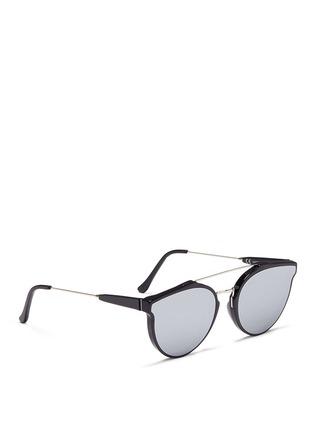 Figure View - Click To Enlarge - SUPER - 'Giaguaro' metal bridge mirror sunglasses